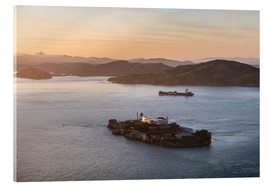Acrylic glass  Alcatraz island in the bay of San Francisco - Matteo Colombo