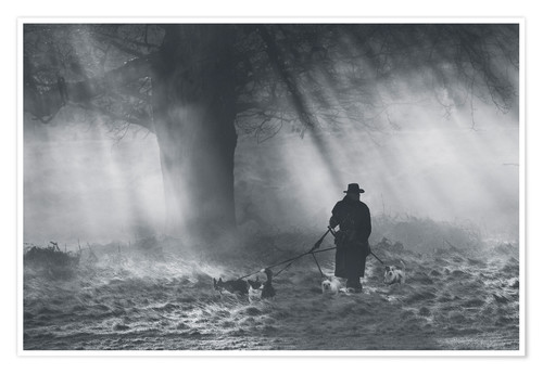 Premium poster The dog walker of Richmond park