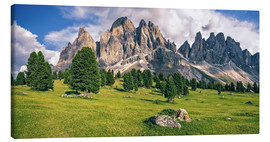 Canvas print  Summer in the Dolomite Alps - Achim Thomae