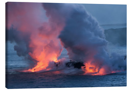 Canvas print  Lava meets Water, Big Island, Hawaii - Markus Ulrich