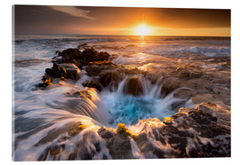 Acrylic glass  Pools of Paradise during Sunset at the Coast of Hawaii (Big Island) - Markus Ulrich
