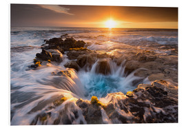 Foam board print  Pools of Paradise during Sunset at the Coast of Hawaii (Big Island) - Markus Ulrich