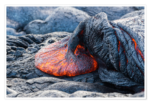 Poster Fresh Lava Flow on Big Island, Hawaii