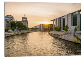 Aluminium print  Sunset at the Reichstag in Berlin - Martin Wasilewski