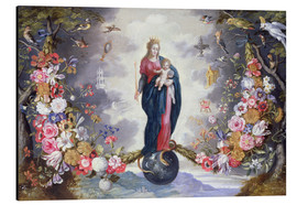 Aluminium print  The Virgin and Child surrounded by a garland - Jan Brueghel d.Ä.