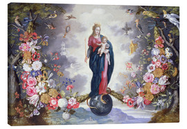 Canvas print  The Virgin and Child surrounded by a garland - Jan Brueghel d.Ä.