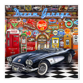 Premium poster Dream Garage
