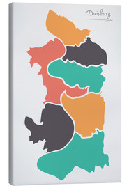 Ingo Menhard - Duisburg city map modern abstract with round shapes