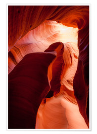 Premium poster  Formation in Canyon X slot canyon, Page, Arizona, USA - Peter Wey