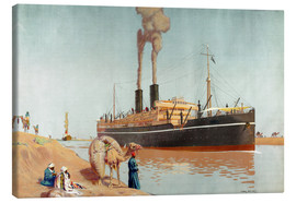 Canvas  Suez canal - Charles Pears