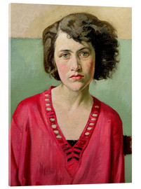Acrylic print  Girl in Pink - William Rothenstein
