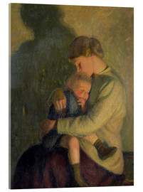 Acrylic print  Mother and Child: Candlelight - William Rothenstein
