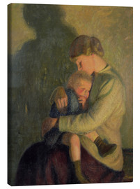 Canvas print  Mother and Child: Candlelight - William Rothenstein