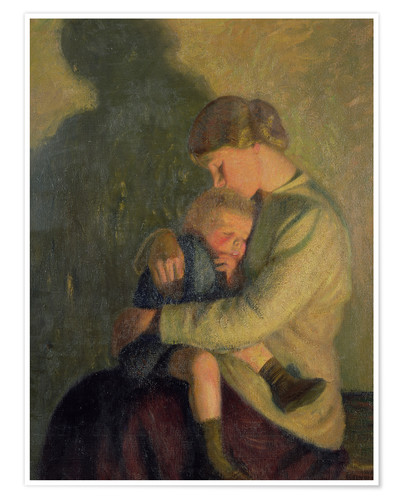 Premium poster Mother and Child: Candlelight