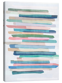 Canvas print  Pastel Stripes 1 - Mareike Böhmer