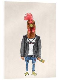 Acrylic glass  Punk Rooster - Barruf
