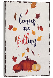 Canvas print  leaves are falling - Sybille Sterk