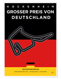 Premium poster My F1 Germany Race Track Minimal Poster