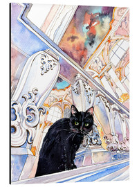 Alu-Dibond  Black Cat at Museum, Saint-Petersburg, Russia - Anastasia Mamoshina
