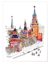Premium poster Kremlin, Red Square, Moscow