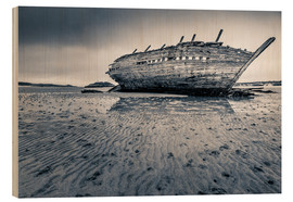 Wood print  Shipwreck in Donegal - Salvadori Chiara