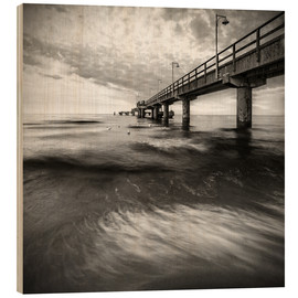 Wood  Sea Bridge with Seagulls / II - Mario Benz