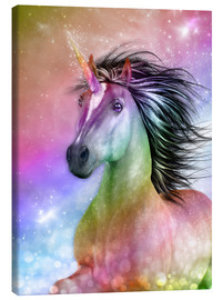 Canvas print  Unicorn - Be Authentic - Dolphins DreamDesign