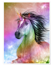 Premium poster Unicorn - Be Authentic