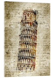 Acrylic print  THE LEANING TOWER OF PISA - Michael artefacti