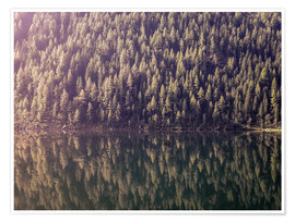 Premium poster Mountain Lake Reflection