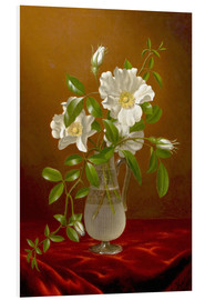 Forex  Cherokee Roses in a Glass Vase - Martin Johnson Heade