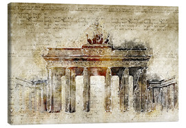 Michael artefacti - Berlin Brandenburg Gate in modern abstract vintage look