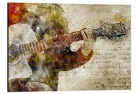 Michael artefacti - Guitar musician in abstract modern vintage look
