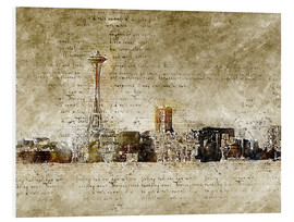 Forex  Seattle skyline in modern abstract vintage look - Michael artefacti