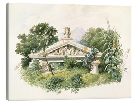 Canvas print  An Overgrown Doric Building - Karl Friedrich Schinkel
