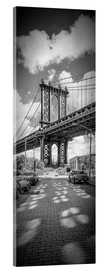 Acrylic glass  NEW YORK CITY Manhattan Bridge Panorama - Melanie Viola