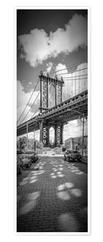 Poster NEW YORK CITY Manhattan Bridge Panorama