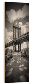 Wood  NEW YORK CITY Manhattan Bridge Panorama - Melanie Viola