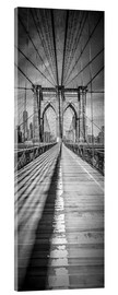 Acrylic glass  NEW YORK CITY Brooklyn Bridge Panorama - Melanie Viola