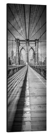 Alu-Dibond  NEW YORK CITY Brooklyn Bridge Panorama - Melanie Viola