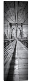 Canvas print  NEW YORK CITY Brooklyn Bridge Panorama - Melanie Viola
