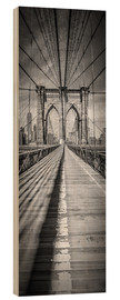 Wood  NEW YORK CITY Brooklyn Bridge Panorama - Melanie Viola