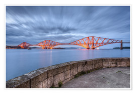 Premium poster Edinburgh Forth Bridge