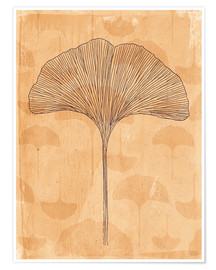 Premium poster little and big ginkgo leaves