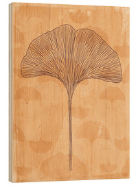 Wood  little and big ginkgo leaves - Sybille Sterk