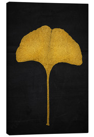 Canvas print  golden ginkgo leaf - Sybille Sterk