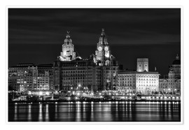 Premium poster  Liverpool Water Front - Wayne Molyneux