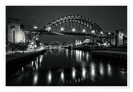 Premium poster The Sage and Tyne bridge