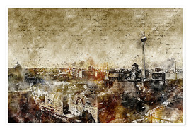 Premium poster Berlin skyline abstract