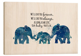 Wood print  Love you forever - Dani Jay Designs